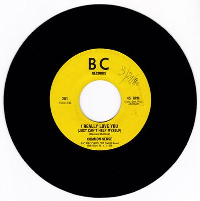 Common Sense - I Really Love You (Just Can't  Help Myself) / same  3:20 version - B C 201