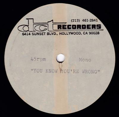 """Walter Heath  - You Know You're Wrong / I Am Your Leader - DCT 10"""" acetate"""