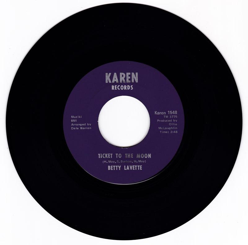 Betty Lavette - Ticket To The Moon / Let Me Down Easy (first mix) - Karen 1548