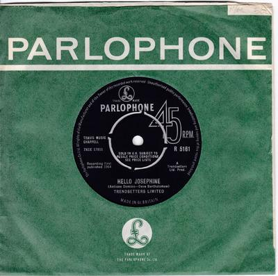 Trendsetters Limited - Move On Over / Hello Joesphine - Parlophomne R 5161