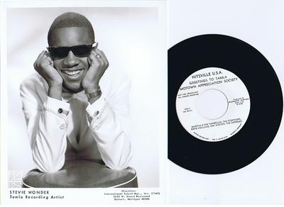 "Stevie Wonder and Various Artists  - Tamla 10 x 8"" Glossy Artist Promo / + Hitsville Greetings to T.M.A.S - Tamla 8x10"