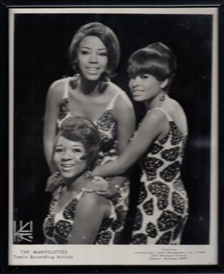 Various Artists - Marvelettes, Tammi Terrell, Martha & The Vandellas / 3 x framed black & whites - Motown