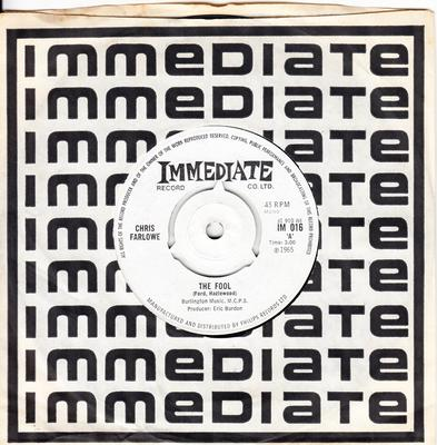 Chris Farlowe - The Fool / Treat Her Good - Immediate IM 016