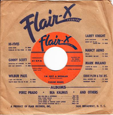 Pauline Rogers - I'm Just A Woman / I've Been Prentending - Flair-X FL 5001
