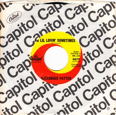 Alexander Patten - A Lil Lovin' Sometimes / No More Dreams - Capitol 5677