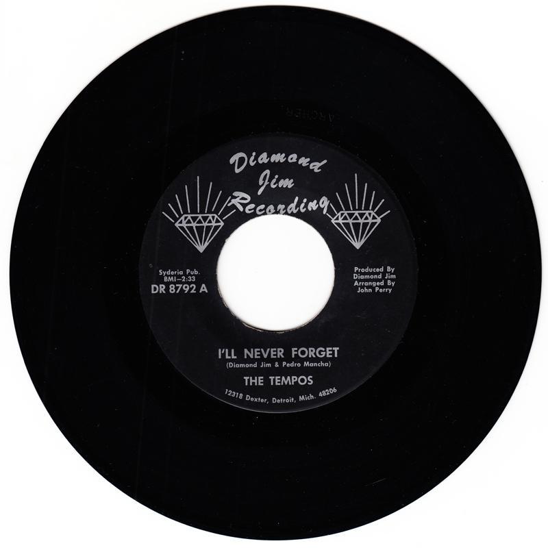 Tempos - I'll Never Forget / Disc Jockey Paradise - Diamond Jim DR 8792