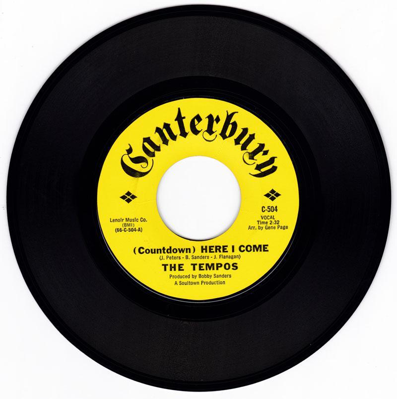 Tempos - ( Countdown ) Here I Come / Sad Sad Memories - Canterbury C-504