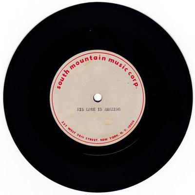 Norman Jenkins - His Love Is Amazing / blank - South Mountian Music acetate