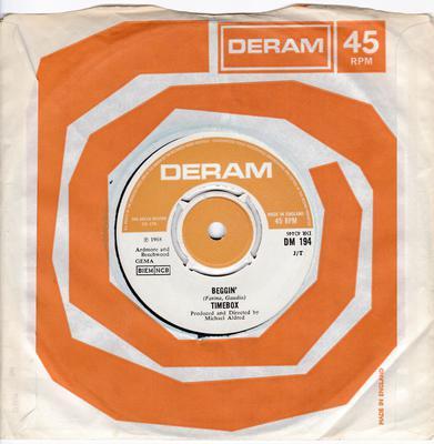 Timebox - Beggin' / A Woman That's Waiting - Deram DM 194