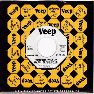 Timothy Wilson - Hey Girl, Do You Love Me! / Come On Home - Veep V 1213 DJ