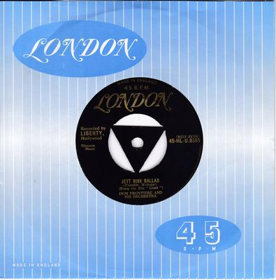 Dom Frontiere - Jett Rink Ballad / Uno Mas - London HL-U 8385