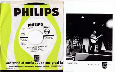 Bobby Hebb - You Want To Change Me + artist promo pic - Dreamy - Philips 4551 DJ
