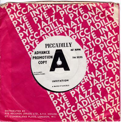 A Band Of Angels - Invitation / Cheat And Lie - Piccadilly 7N 35292