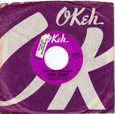 Major Harris - Call Me Tomorrow / Like A Rolling Stone - Okeh 4-7327