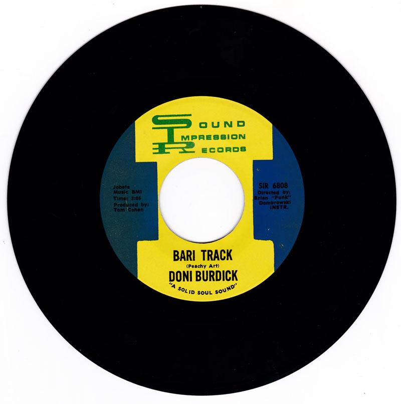 Don Burdick - Bari Track / I Have Faith In You - Sound Impressions SIR 6808