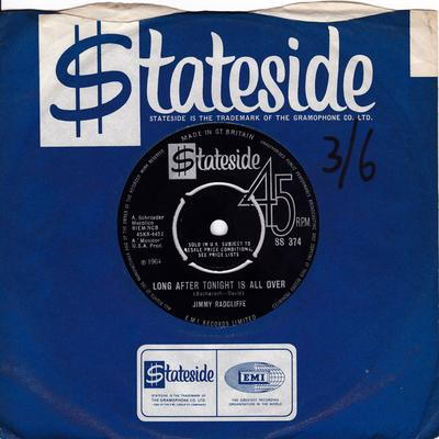 Jimmy Radcliffe - Long After Tonight Is All Over / What I Want I Can Never Have - Stateside SS 374