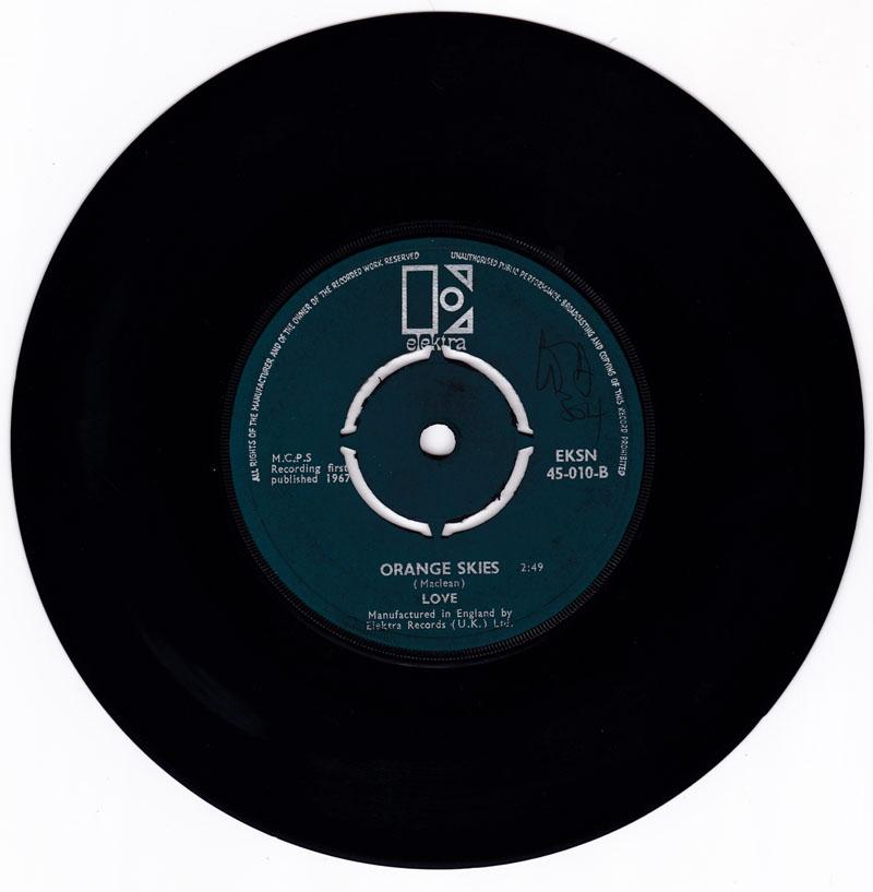 Love - She Comes In Colours / Orange Skies - Electra EKSN 45-1010