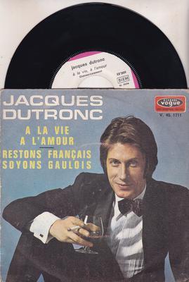 Image for A La Vie, A L'amour/ Restons Francais Soyons Gauloi