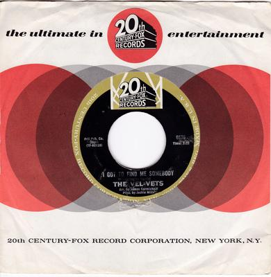 Vel-Vets - I Got To Find Me Somebody / What Now My Love - 20th Century Fox 6676