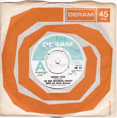 Mike Westbrook Concert Band with Norma Winstone - Original Peter / Magic Garden - Deram DM 311