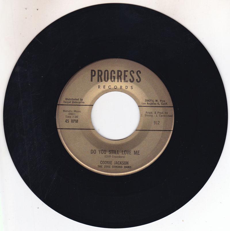 Cookie Jackson - Do You still Love Me / Blind Love - Progress 912