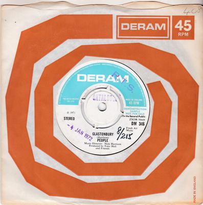 People - In Ancient Times / Glastonbury - Deram DM 346 DJ