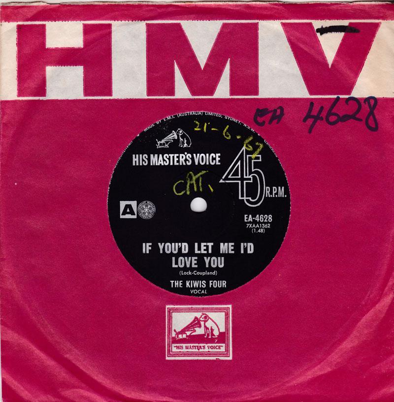 Kiwis Four - If You'd Let Me I'd Love You / The Cedars Of Lebanon - His Master Voice EA 4628