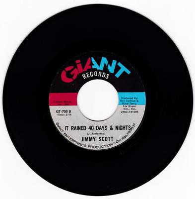 Jimmy Scott - It Rained 40 Days & Nights / Nobody But You - Giant GT 708