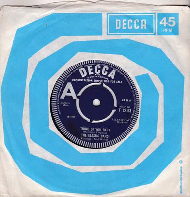 Elastic Band - It's Been A Long Time Baby / Think Of You Baby - Decca F 12763 DJ