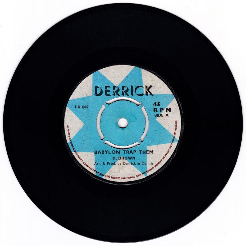 D. Brown ( Blackstones ) - Babylon Trap Them / Trap Them part 2 - Derrick DR 005