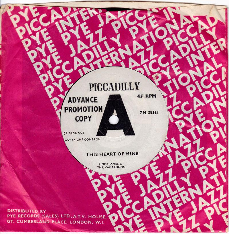 Jimmy James - This Heart Of Mine / I Don't Wanna Cry - Piccadilly 7N 35331 D