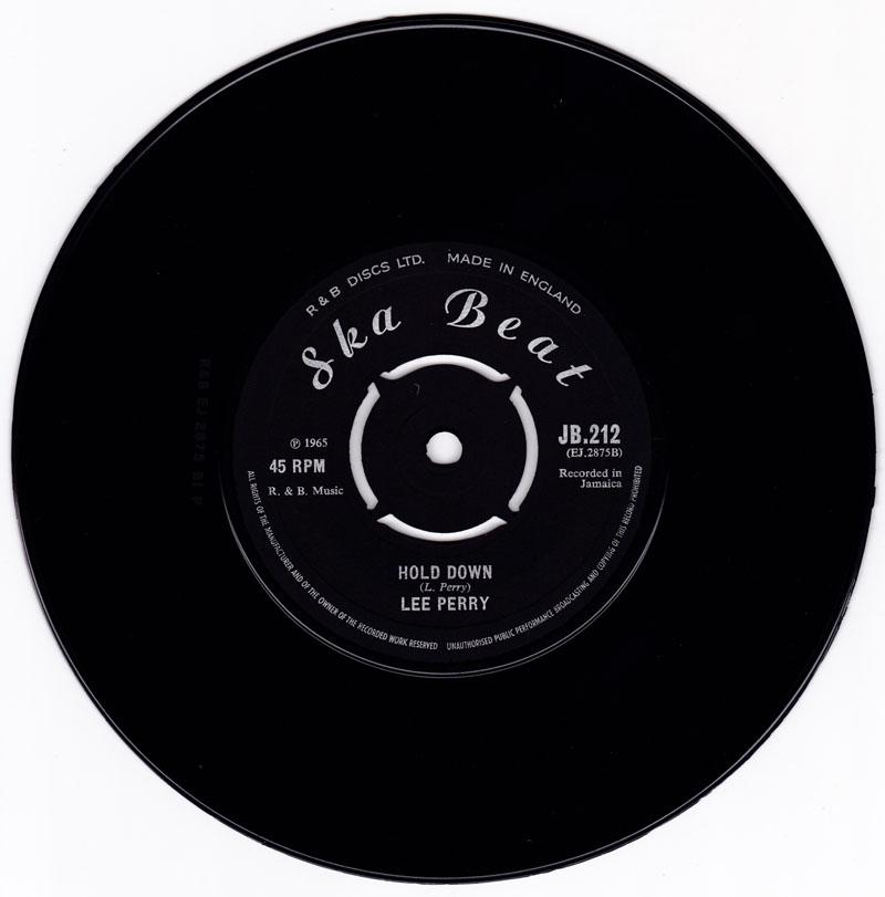 Lee Perry - Wishes Of The Wicked / Hold Down - Ska Beat JB 212