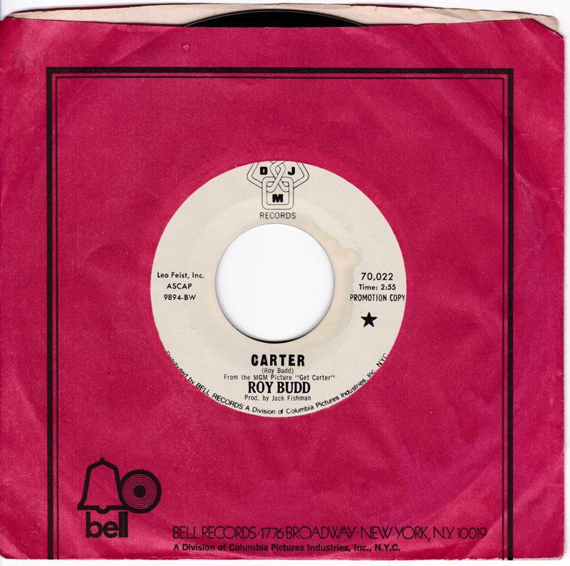 Roy Budd - Carter / Plaything - DJM 70,022 DJ