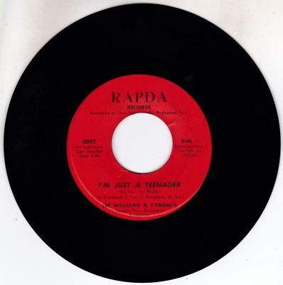 Lee Williams & The Cymals - I'm Just a Teenager / A Girl From The Counry Town - Rapda 002 / 3