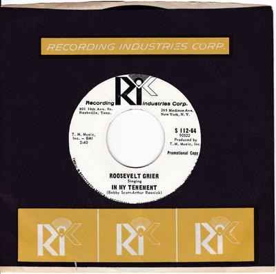 Roosevelt Grier - In My Tenement / Down So Long - R.I.C. S 112-64 DJ