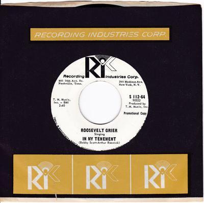 Roosevelt Grier - In My Tenement / Down So Long - R.I.C. S 112-64 DJ
