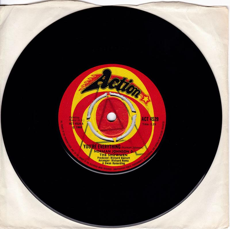 Norman Johnson & The Showmen - You're Everything / Our Love Will Grown - Action ACT 4529 DJ