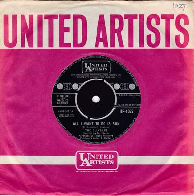 Elektras  - All I Could Do Is Run / It Ain't Easy - United Artists UP 1027