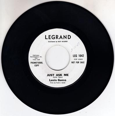 Lenis Guess - Just Ask Me / Working For My Baby - Le Grand LEG 1042 DJ west coast