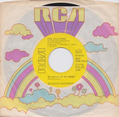 Exciters - Blowing Up My Mind / You Don't Know What You're Missing ( Unitl It's Gone ) - RCA 47-9723 DJ