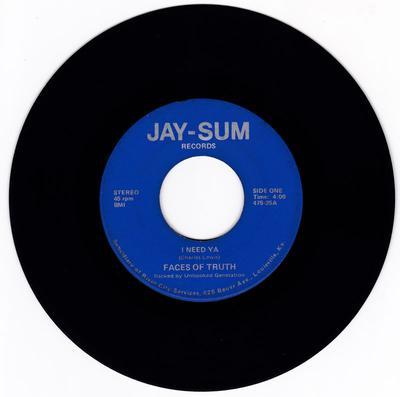 Faces Of Truth - I Need Ya / Black Is - Jay-Sum 475-25