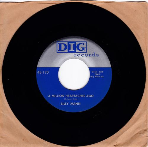 Billy Mann - A Million Heartaches Ago / Just like before - Dig 120