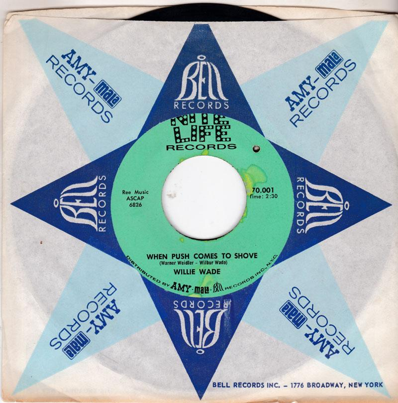 Willie Wade - When Push Comes To Shove / Come Into My World - Nite Life 70,001