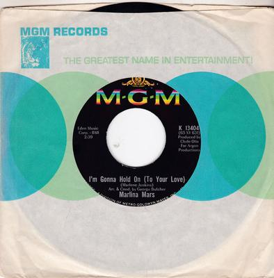 Marlina Mars - I'm Gonna Hold On To Your Love / Inside I've Died - MGM K 13404