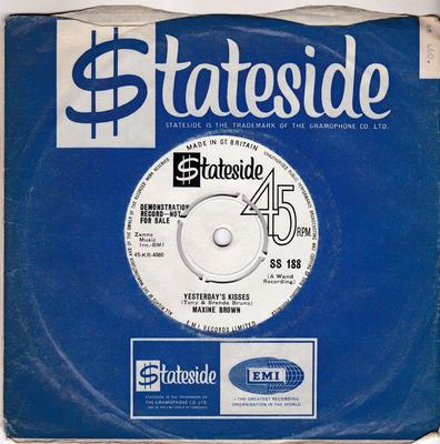 Maxine Brown - Yesterday's Kisses / Ask Me - Stateside SS 188 DJ