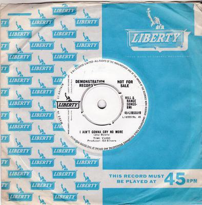 Timi Yuro - I Ain't Gonna Cry No More / The Love Of A Boy - Liberty 45-LIB55519 DJ