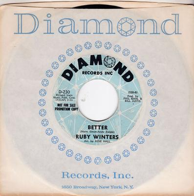 Ruby Winters - Better / I Want Action - Diamond D-230 DJ