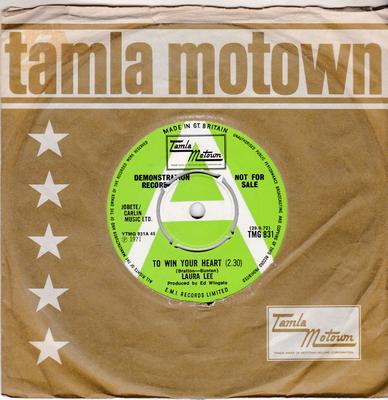 Laura Lee - To Win Your Heart / So Will I -  Tamla Motown TMG 831 DJ