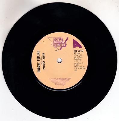 Patrick Allen - Groovy Feeling / same: instrumental - K&B KB 5540