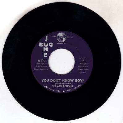 Attractions - You Don't Know Boy? / Think Back - June Bug YB 697